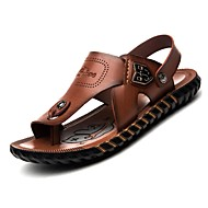 Men's Shoes Outdoor / Office & Career / Athletic / Dress / Casual Nappa Leather Sandals Brown