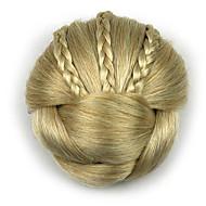 excêntricas encaracolados profissão de ouro do cabelo humano chignons rendas perucas 1003
