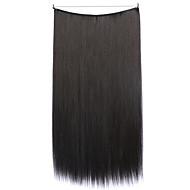 perruque noire 55cm synthétique fil à haute température pièce de cheveux raides 99j couleur
