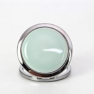 1 Pcs Portable Retro Handmake Glaze And Folding Ceramics Cosmetic Mirror