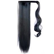 černá 60cm syntetické s vysokou teplotou drát paruka rovné vlasy cop barva černá