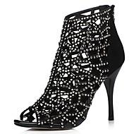 נעלי נשים-סנדלים-סוויד-עקבים / נעלים עם פתח קדמי / מגפונים / פתוח-שחור / לבן / זהב-שמלה / קז'ואל / מסיבה וערב-עקב סטילטו