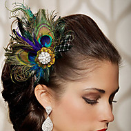 2016 New Fashion Party Wedding Feather Hair Accessories Hand Made Head Piece Clip in Hair