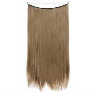 perruque étouffant cyan 55cm synthétique fil à haute température de couleur de pièce de cheveux raides 68