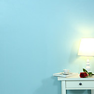 0.6*5M European Blue Sticky Wallpaper From Pure Color Pvc Decorative Wallpaper Waterproof Thickening