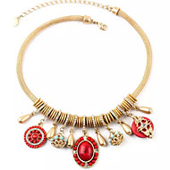Necklace Pendant Necklaces Jewelry Red / Blue Alloy / Resin Party / Daily / Casual 1pc Gift