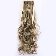 borwn Länge 50cm Großverkauf der Fabrik binden Typ curl Schachtelhalm Haar Pferdeschwanz (Farbe 27a / 613)