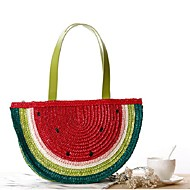 Women Straw Casual Tote Multi-color