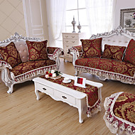 Som på bildet Formtilpasset Med kanter Klassisk Overtrekk til sofa , Chenille Stofftype slipcovere