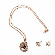 Ensemble de bijoux Stras Alliage Femme