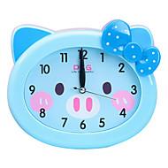 ρολόι χαριτωμένο νεωτερισμό σχήμα σίγασης πλαστικό συναγερμού (τυχαία χρώμα)