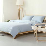 Sky blue Washed Cotton Bedding Sets Queen King Size Bedlinens 4pcs Duvet Cover Set