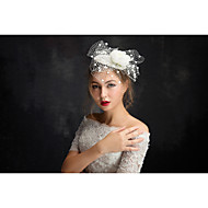 Women's Lace / Tulle Headpiece-Special Occasion Fascinators 1 Piece Clear Irregular 15