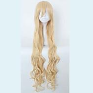 billig halloween de Blois høy kvalitet 120cm forlenge langt blondt bølgete cosplay parykk