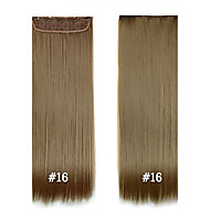 "Synthetic Hair 24"" 120g Synthetic Clip In Hair Extensions #16 High Temperature Fiber Strgight Hair Extensions"