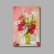 Ručno oslikana Sažetak / Cvjetni / Botanički ulja na platnu,Moderna Jedna ploha Platno Hang oslikana uljanim bojama For Početna Dekoracija