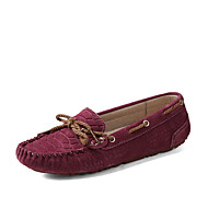 Women's Shoens Leatherette Flat Heel / Round Toe / Comfort Boat Shoes / Dress Casual / Office & Career