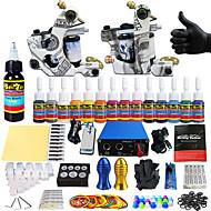 solong tetoválás teljes tetováló készlet 2 pro gép s 14 festékek tápegység tű markolatok