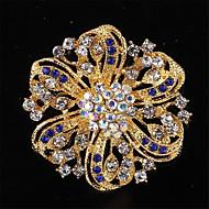 moda de alta qualidade allloy strass broche de flor para as mulheres