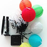 NO 5 M 20 LED Dip Branco Quente / Branco / RGB / Vermelho / Azul / Verde Prova-de-Água 1.5 W Cordões de Luzes AC100-240 V