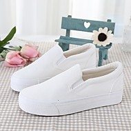 Loafers & Slip-Ons Spring / Fall Flats Canvas Outdoor / Athletic Platform Others Black / Blue / White / Gray