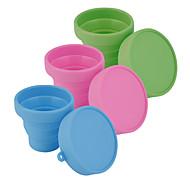 přenosný silikonová zatahovací skládací voda cup outdoor cestovní teleskopický skládací měkké šálek (náhodné barvy)