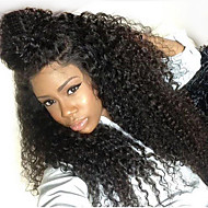 150% Density Kinky Curly Natural Black Color Hair Wig High Quality Synthetic Lace Front Wigs