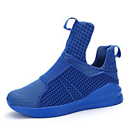 Basketball Shoes Men's Athletic Shoes Comfort Tulle Spring Summer Athletic Casual Outdoor  Comfort Flat Heel Black Ruby Blue Flat