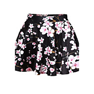 Women's Print Pink Skirts,Sexy Above Knee