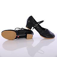 Customizable Women's Dance Shoes Leather Leather Latin / Dance Sneakers Split Sole Chunky Heel Practice / Indoor