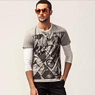 KON® Herren Rundhalsausschnitt Kurze Ärmel T-Shirt Dunkelgrau-K13M-TS0052