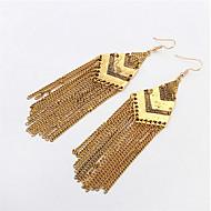 Stylish Atmosphere Chain Tassel Earrings