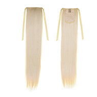 "synthétique droite queue de cheval 50cm 22inch 100g # ruban queue de cheval ""613 blondes mode couleur extensions de cheveux de queue de"