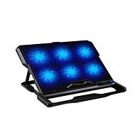 Šest fanoušků ergonomický chladič chladící podložka s držákem stojan pro notebook