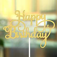 Tortenfiguren & Dekoration Nicht-personalisierte Herzen Kartonpapier Geburtstag Schleife Gold Strand Thema / Klassisches Thema 1 OPP