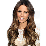 26.08 inch natürlichen reines brasilianisches Haar lockiges Spitzefrontseitenperücke