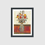 Hand-Painted Still Life Floral/Botanical Square,Modern Traditional One Panel Canvas Oil Painting For Home Decoration