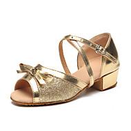 Obyčejné-Dětské-Taneční boty-Latina-Třpytky / Pažetky-Rovná podrážka-Stříbrná / Zlatá