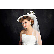 Women's Lace / Tulle / Flax Headpiece-Wedding Hats 1 Piece