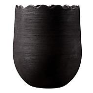 casa moderna decoração em estilo vaso de cerâmica preta
