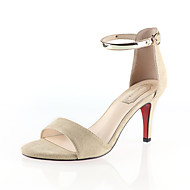 נעלי נשים-עקבים-עוד עור חיות-פלטפורמות / מעוגל-שחור / אדום / Almond-קז'ואל-עקב קצר