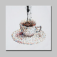 Hand Painted A cup of coffee Canvas Oil Painting Modern Abstract Wall Art With Stretched Frame Ready To Hang