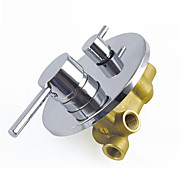 Shower Faucet Contemporary Hot Cold Water Mixing Valve Brass Chrome