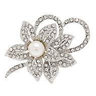 strass moda broches forma de flor liga para o casamento
