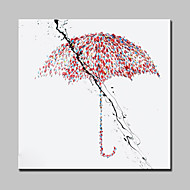 Hand Painted Canvas Oil Painting Modern Abstract Umbrella Wall Art Picture With Stretched Frame Ready To Hang