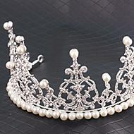 Vrouwen Bergkristal / Licht Metaal / Imitatie Parel Helm-Bruiloft / Speciale gelegenheden Tiara's / Hoofdbanden 1 Stuk Zilver Rond 15