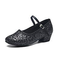 Sapatos de Dança(Preto) -Infantil-Personalizável-Latina / Moderna