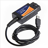 Lines Of Auto Fault Diagnosis Instrument Elm327 Obd2 Driving Computer Usb Cable