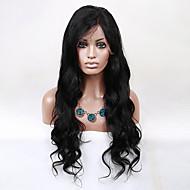 evawigs instock 8-26 pulgadas peluca peruana onda del cuerpo de la peluca del pelo virgen sin cola peluca del frente del cordón de las