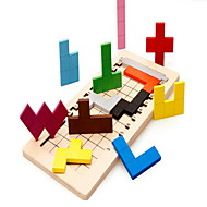 פאזלים אבני בניין צעצועי DIY ריבוע 1 עץ
